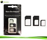 3 en 1 Nano SIM pour micro SIM / carte SIM standard des adaptateurs pour iPhone 5 4s 4 - Noir