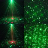 luce laser della fase della discoteca di verde di natale della Singolo-Testa di 12V 2A
