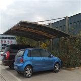 Alu/toldo de alumínio do estacionamento do carro com folha do policarbonato