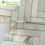 Mosaico Herringbone Polished del mosaico del marmo dell'oro di Calacatta