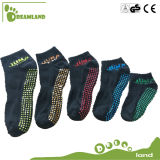 Customized Jump Indoor Custom Non Slip Meias Yoga Sock Ankle Meias para trampolim