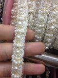 Testo fisso del merletto della catena del metallo dei branelli per il tessuto di cotone di cucito della decorazione dell'abito