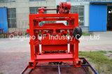 Machine de fabrication de brique concrète de bloc de cendres volantes de la colle Qt4-40 manuelle