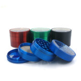 Cigarette Pipe를 위한 4layers 63mm Zinc Alloy Mix Color Herb Grinder