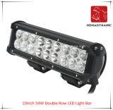 LED 차 빛 10 인치 54W 도로 빛과 LED 모는 빛 떨어져 SUV 차 LED를 위해 방수 두 배 줄 LED 표시등 막대