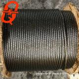 직류 전기를 통한 철강선 밧줄 6X19s+FC 강철에 의하여 직류 전기를 통하는 철강선 밧줄
