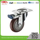 100mm placa giratória roda PU Rodinha Industrial (P103-36CE100X32)