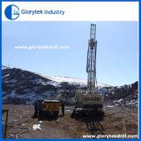 鉱山の送風穴の掘削装置