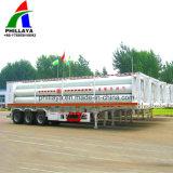 3 차축 26m3 40FT 콘테이너 압축 CNG 관 트레일러