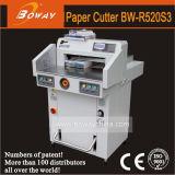 découpage de papier programmé hydraulique de 520mm fendant la machine de massicot de coupeur de massicot de garniture