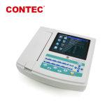 Contec ECG1200g Electrocardiografo ECGのElectrocardiographは1000までのケースを保存できる