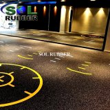 Fire Resistance Fitness Gym Roll Rubber Flooring Chechmate