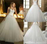 Sweetheart Embroidered Sequins Ball Gown Wedding Dresses