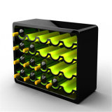 Botella de vino de acrílico acrílico de la pantalla, titular de la copa de vino