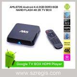 Caixas Android da parte superior do aparelho de televisão de WiFi HD do jogador da rede do Quad-Núcleo