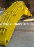 As peças de máquinas de construção escavadeira de longo alcance padrão do braço e da lança com a caçamba para a Caterpillar