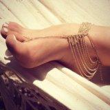 شاطئ متعدّد [تسّل] إصبع قدم سوار [شين لينك] قدم مجوهرات خلخال