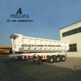 25 Cbm 트레일러를 반 기울이는 후방 유압 덤프 트럭 연결