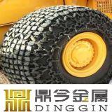 Pá carregadeira de rodas OTR correntes de protecção dos pneus