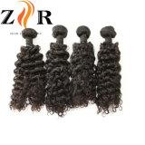Человеческого волоса природных ослабление необработанной кривой Virgin индийских волос