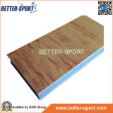 Mag зигзага боевых искусств в деревянном цвете зерна, деревянном зерне ЕВА блокируя циновку