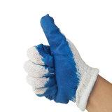 Preiswerte glatte Latex-beinahe überzogene Handschuhe mit Baumwolle