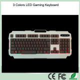 Superior vendiendo 3 teclados del contraluz del color LED (KB-1901EL)
