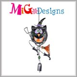 New Arrival Halloween Pumpkin Metal e Glass Wind Chime