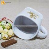 11oz Hashtagによって着色されるハンドルの丈夫な陶磁器のコーヒーカップのマグ