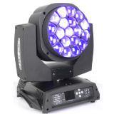 19X15W LED 세척 효력을%s 가진 단계를 위한 이동하는 맨 위 광속 효력 빛