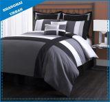 Комплект одеяла полиэфира 6 частей черный серый перекрестный напечатанный