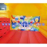 Chate gonflable Bouncy avec toboggan / Chasseurs gonflables Jumpingamazing Bouncy