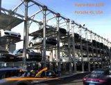 Quatro borne 3 sistema do estacionamento da pilha do equipamento do elevador hidráulico do carro de 4 níveis