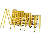 Een ladder van de Stap van Inslulated FRP van de Vorm Dubbele Zij Vouwbare