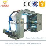 Machine d'impression flexographique de papier de couleur de la vitesse 6