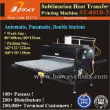 Sublimazione pneumatica automatica della stampante della pressa di calore del cotone del poliestere delle stazioni del doppio di ampio formato