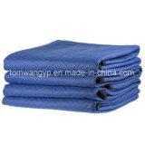 """12枚のプロ経済移動毛布(35のlbsかダースつの重量) 72 """" X 80 """"の濃紺および黒"""