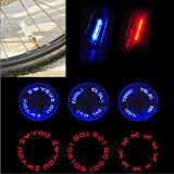 7 LED Red Blue English Letters Display Spoke Wheel Light Flash Valve Cap Tire Light