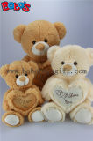 심혼 베개를 가진 아이들의 장난감 선물 브라운 사랑해요 견면 벨벳 곰