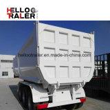 Les tri essieux de la forme 3 du cylindre U de Hyva de remorque de vidage mémoire d'essieux semi élèvent incliner la remorque de camion