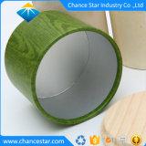 木のふたが付いているカスタム厚いボール紙の円形の紙箱
