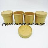 Wasserdichtes Wegwerfpapierverpacken- der Lebensmittelnudel-Filterglocke-Cup mit Deckel