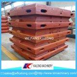 Linha de molde elevada caixa do molde de carcaça da produção de molde usada para a fundição