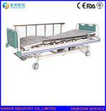 Muebles médicos de alta calidad de manivela de tres camas de enfermería del Hospital