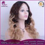 Parrucca piena del merletto dei capelli vietnamiti dell'onda di acqua di colori di Ombre 3