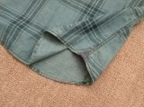 Camice tessute manicotto lungo del plaid del Chambray della tintura del filato di 100%Cotton degli uomini