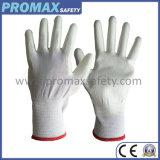 ESD Nylon Pu bedekte de Antistatische Handschoenen van het Werk met Ce- Certificaat met een laag