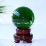 Деревянном основании темно зеленый хрустальное стекло шаровой шарнир