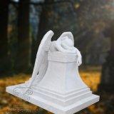 Statua di marmo materiale dell'angelo piangente, monumento del Hunan di grande qualità della scultura di angelo