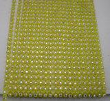 단 하나 줄 플라스틱 모조 다이아몬드 밴딩 트리밍을 분리하는 탄력 있는 플라스틱 수정같은 다이아몬드